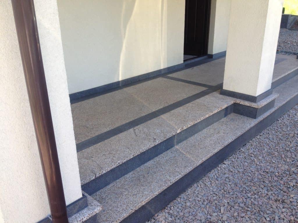 schody z granityu zewnętrzne